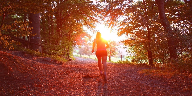 running-through-forest