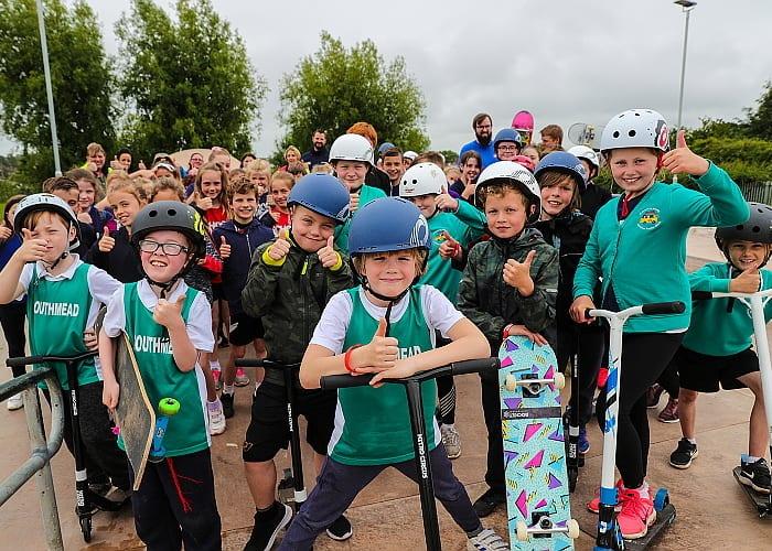 the Devon Summer School Games, Exeter, Devon