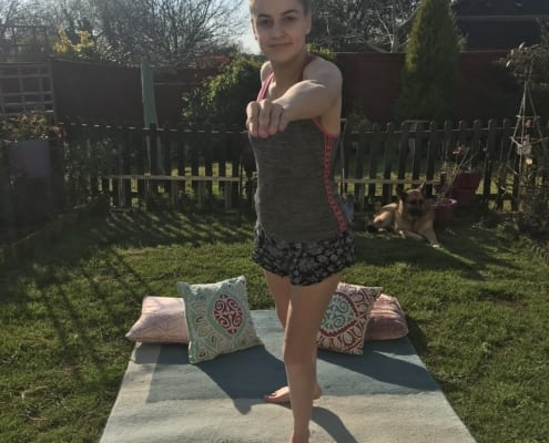 Tilly's yoga poses at home